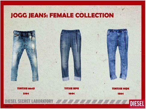 I tre modelli di Jogg-jeans disponibili da luglio 2011