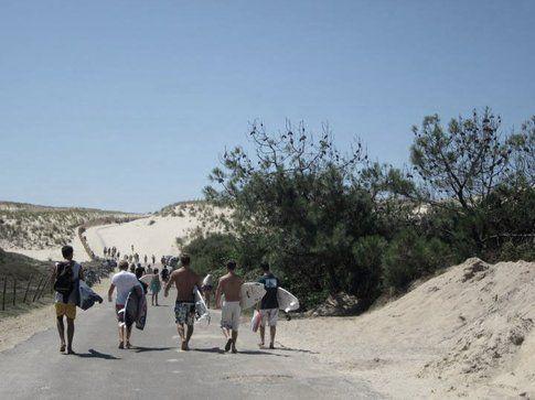 Verso la spiaggia nelle vicinanze di Soustons