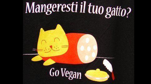 Immagine sarcastica di chi promuove l'essere vegani