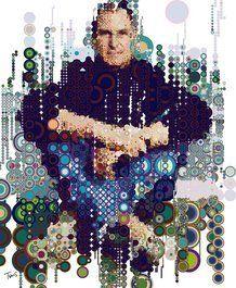 Steve on Circles I (raining colors)