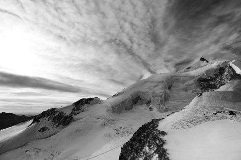 L'imponente ghiacciaio di Saas Fee
