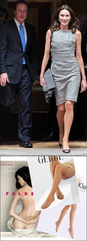 Anche Carla Bruni indossa calze color carne!