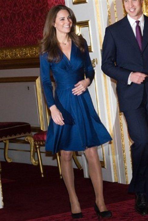 Kate  Middleton e le calze color carne