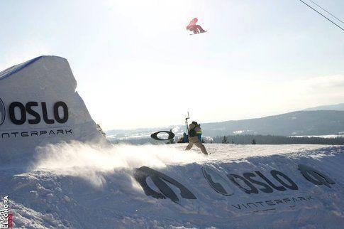 Ethan Morgan nelle finali dell'Arctic Challenge