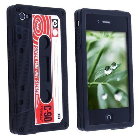 Silicone Cassette Tape Case for Apple iPhone