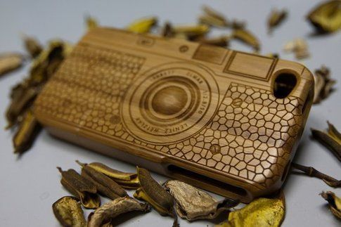 iPhone 4 Natural Bamboo Wooden Case
