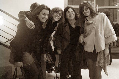Da sinistra: Elisa Chisana Hoshi (Stambul), Francesca Masoero (Turin), Alice Avallone (Nuok) e Beatrice Avallone (Milan)