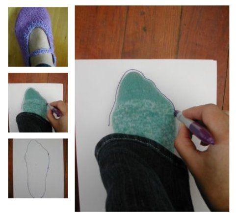 Come disegnare la forma della pantofola