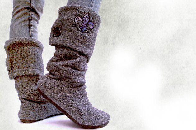 Un'idea regalo fai da te? Stivali e pantofole in lana