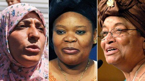 Ellen Johnson Sirleaf, Leymah Gbowee e Tawakul Karman