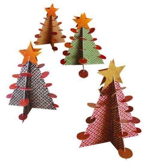 Alberi di Natale in carta di Anna Godeassi