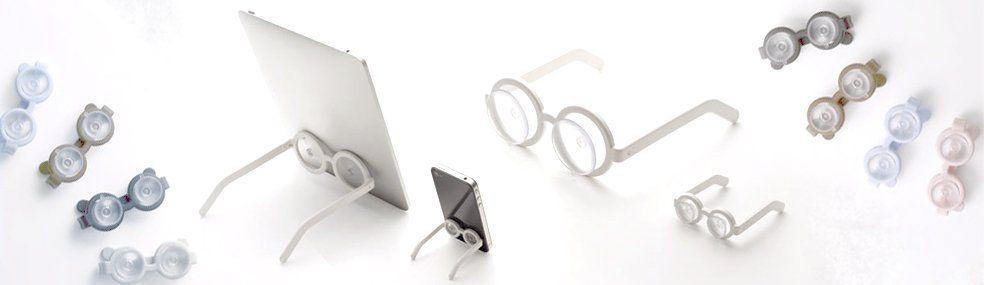 Megane: poggia iPhone e iPad a forma di occhiale