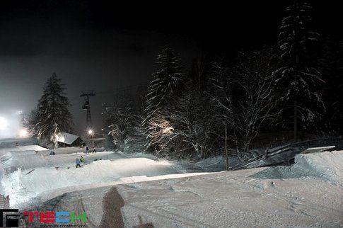 Il Korer Park a Plan de Corones aperto in notturna