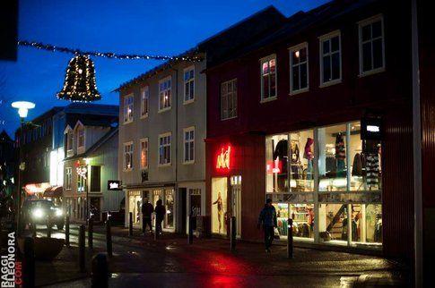 Una strada di Reykjavik