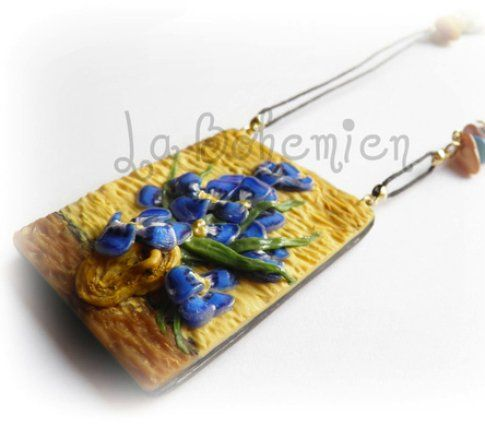 Pendente Vaso con Iris di Van Gogh di La Bohemien