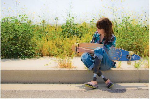Il longboard è solo uno degli sport che Amy pratica