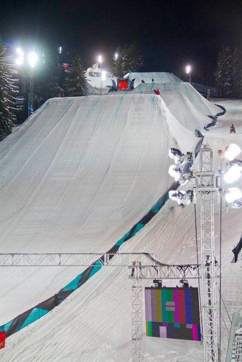 Il tracciato degli slopestyle agli X Games 2012