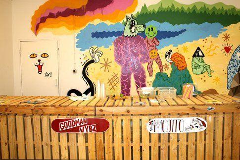Illustrazioni allo stand Lamono