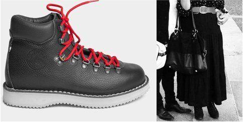Maxi skirt e Trekking boots