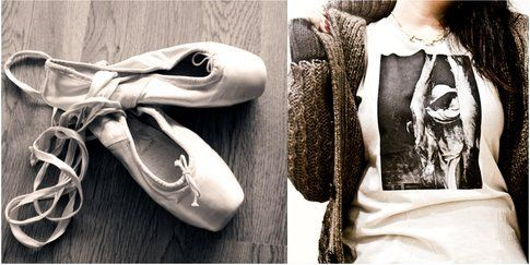 Ballet Shoes with Maxi Cardigan & Tee