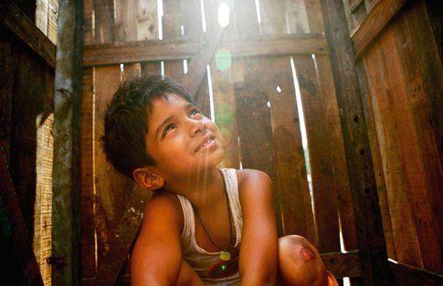 Una scena di The Slumdog Millionaire