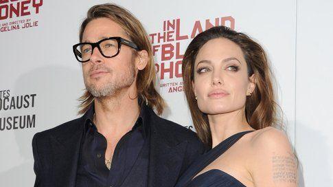 Angelina Jolie e il marito Brad Pitt alla premiere