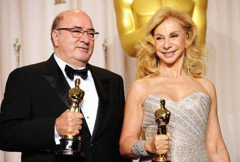 Dante Ferretti e Francesca Lo Schiavo alla notte degli Oscar 2012