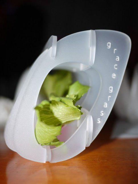 """""""Grace Grass"""", serra idroponica da scrivania in acrylic, design di Studio Griffa"""