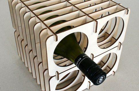 """""""Winerack"""", portabottiglie, design by madebydan"""