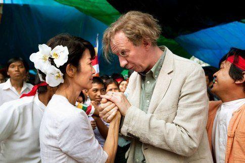 Suu Kyi con il marito
