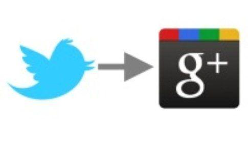 Twitter su Google+