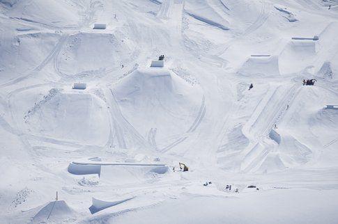 Non è un render 3D ma lo snowpark di Silvretta