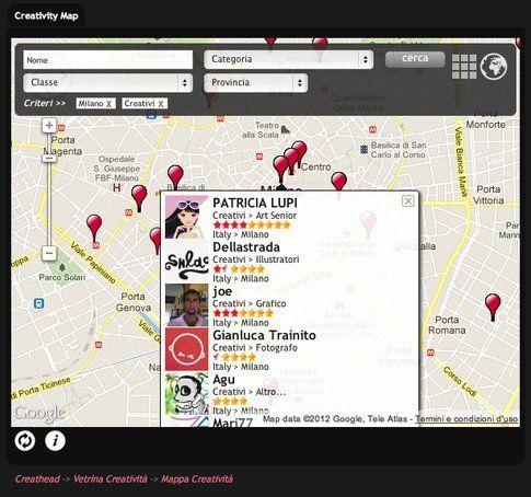 Creativity Map - Risultati ricerca