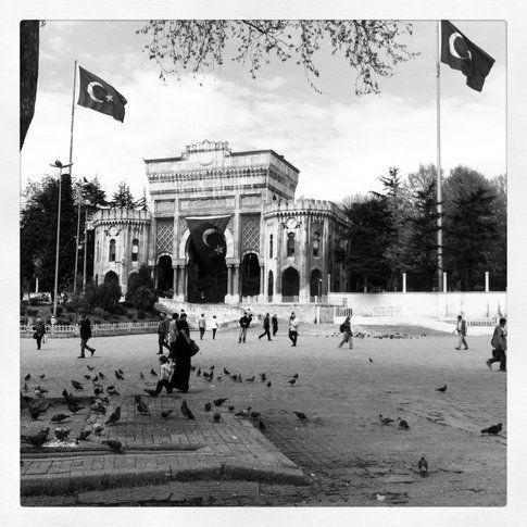 L'ingresso dell' Università di Istanbul