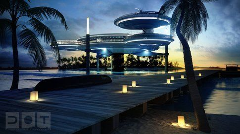 Come si presenterebbe il Water Discus Hotel
