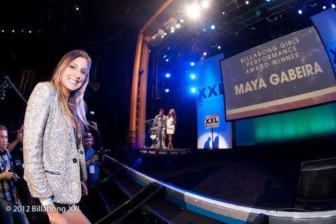 Maya Gabeira alle premiazioni