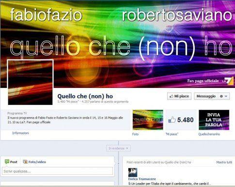La pagina di facebook di Quello che non ho