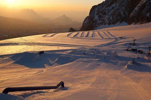 Dachstein al tramonto