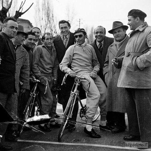 Gino Bartali e Fausto Coppi, Cremona, 1953