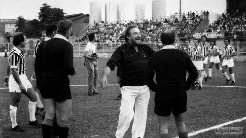 Ugo Tognazzi allo stadio Zini, Cremona 1983