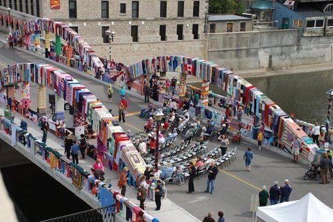 Yarn Bombing in Ontario, Canada