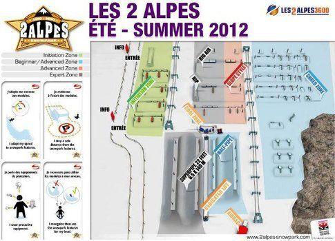 Lo snowpark di Le Deux Alpes