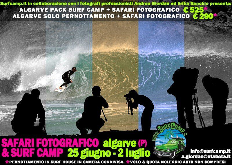 Surf Camp e Corso di Fotografia