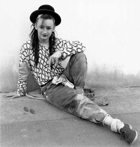Boy George fotografato da Janette Beckman