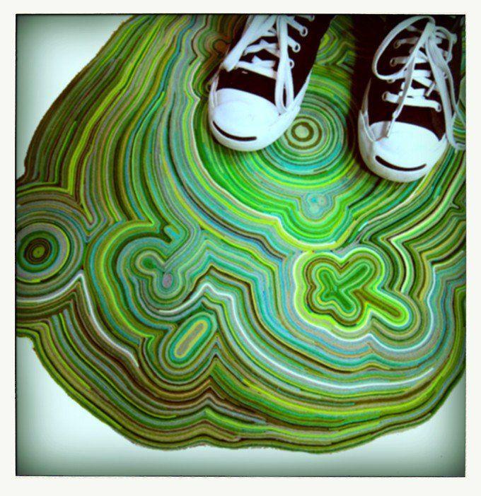 Creare un tappeto magico con ritagli di feltro: il tutorial dello Slow Tapis
