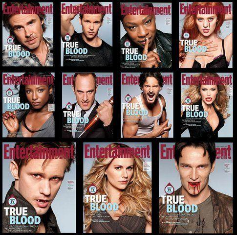 Le undici copertine che la rivista Enterteinment ha dedicato al ritorno di True Blood