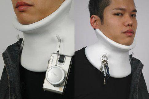Hooky: un collare cui appendere tutti gli oggetti che occorre tenere a portata di mano