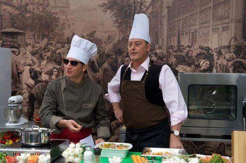 i due chef in cucina, cosa combineranno? (immagini tratte dal film)