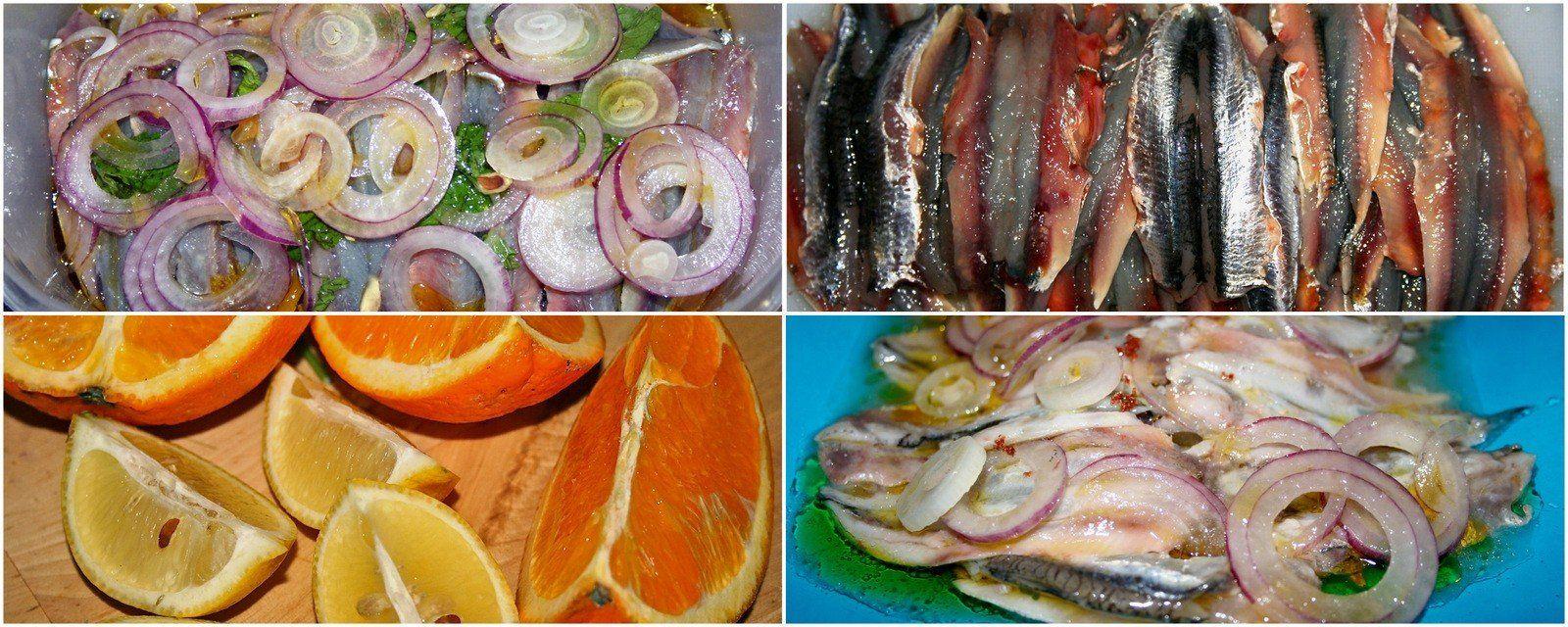 Ricette leggere: alici marinate con agrumi e cipolla rossa di tropea