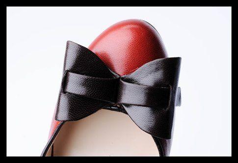 un delizioso fiocco di una scarpa